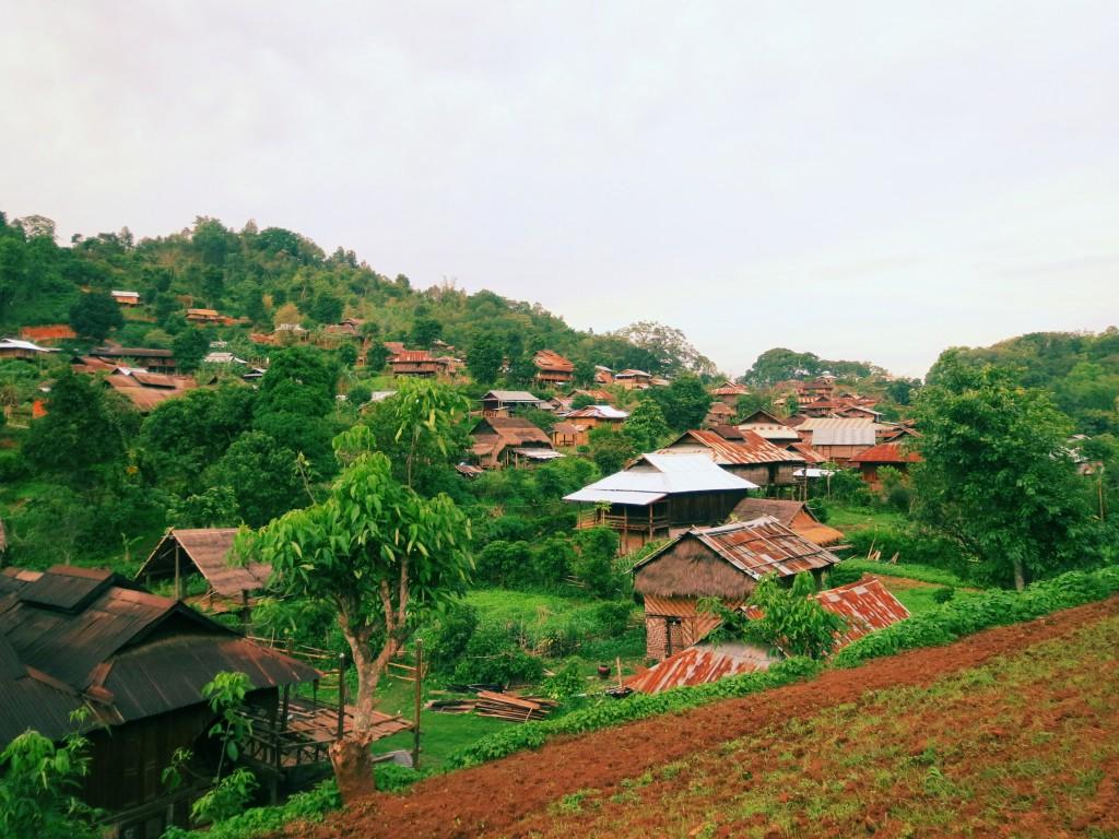 Das der Dorf Palaung in Myanmar. Die Palaung werden auch De'ang genannt.